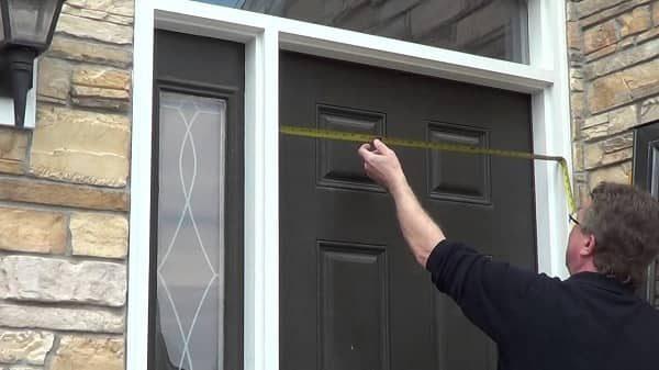 How to measure for a storm door